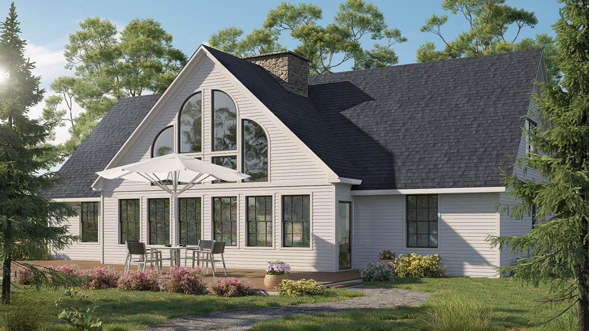 Cape Cod Style House Renderzen